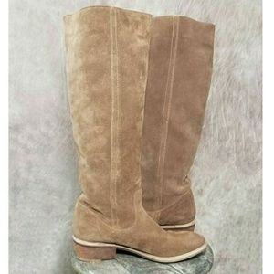 Bronx Shoes - SOLD Bronx 38 8 Suede Wood Heel Pull-up Tall Boots